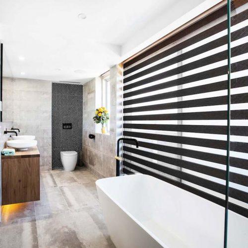 Geschikte raamdecoratie voor de badkamer - Badkamers voorbeelden