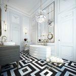 3d Ontwerpen van klassieke badkamer