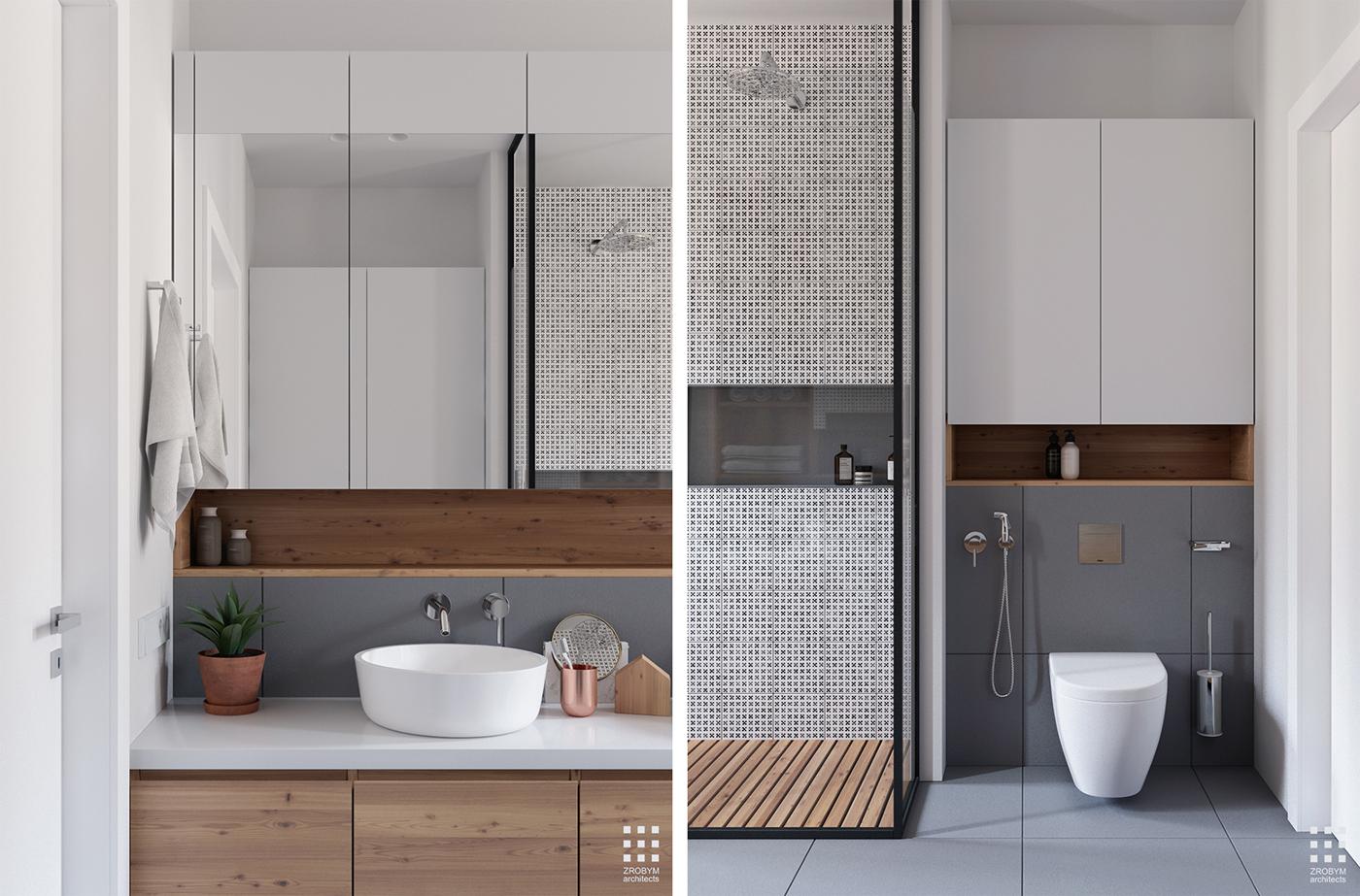 3d ontwerpen moderne badkamer door zrobym architects for 3d badkamer maken