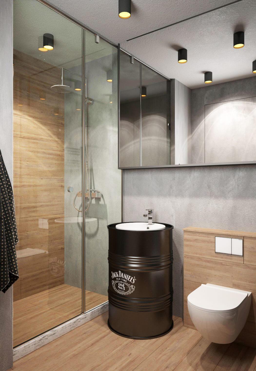 3d Ontwerpen voor een stoer loft appartement uit Moskou