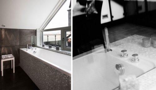 Elegante badkamer met mintgroene mozaïektegeltjes (2)