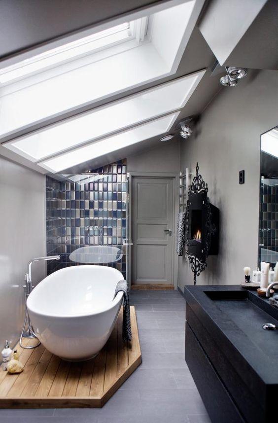 Aardetinten badkamer