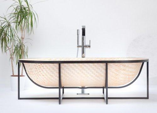 Bad van gevlochten hout