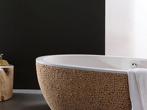 Bad met kurk ontwerp badkamers voorbeelden for Ontwerp bad