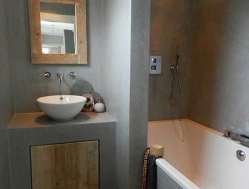 Zen badkamer met bruine tinten badkamers voorbeelden for Badkamer zen