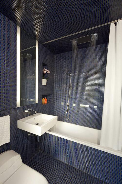 Beroemd Badkamer met blauwe mozaïek tegeltjes - Badkamers voorbeelden PD79