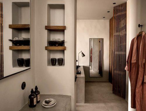 Badkamer van Casa Cook in Kos