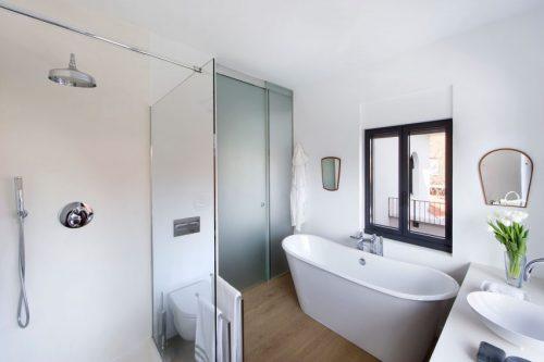Badkamer combinatie van klassiek en modern