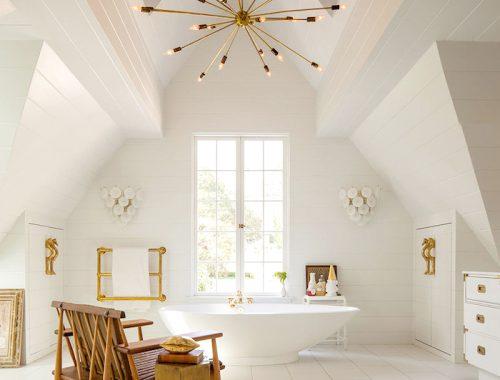 Badkamer in Engelse Tudor style
