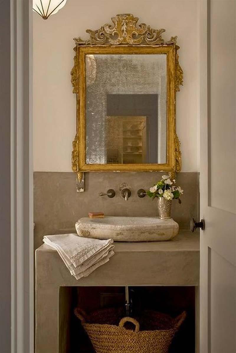badkamer gouden barok spiegel