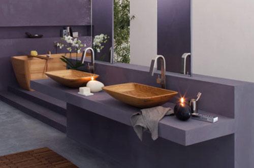 Badkamer houten sanitair