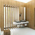 Badkamer ideeën met wit en hout