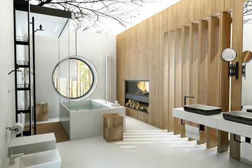 Badkamer ideeën met wit en hout badkamers voorbeelden