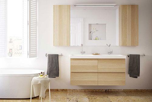 Ikea Badkamer Voorbeelden ~ Inrichting Badkamer inrichten modern twee ...