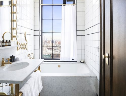 Badkamer van Ludlow hotel