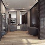Badkamer met matzwarte sanitair