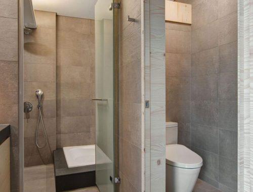 Badkamer met meerdere functionele zones