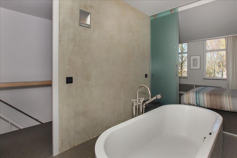 Badkamer met betonstuc - Badkamers voorbeelden