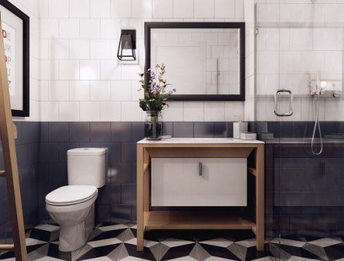 Badkamer met leuke tegel ideeën