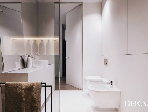 Badkamer met een modern klassiek ontwerp