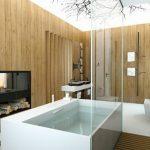 Badkamer met natuurthema