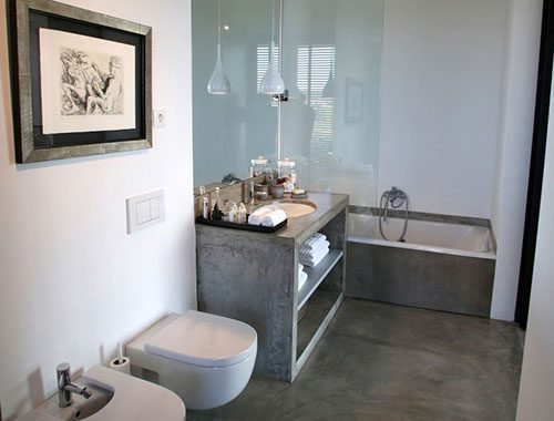 Badkamer ontwerp met beton
