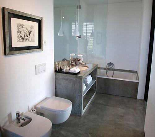 Badkamer ontwerp met beton - Badkamers voorbeelden