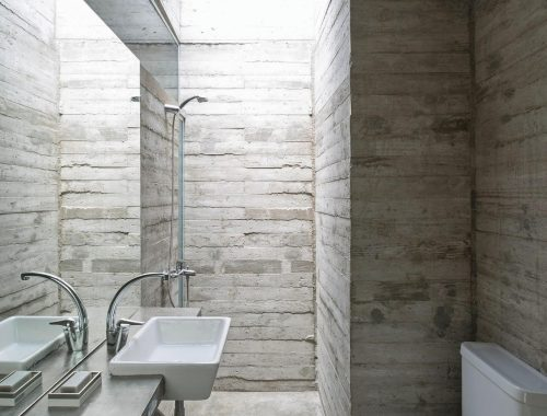 Badkamer ontwerp volledig van beton