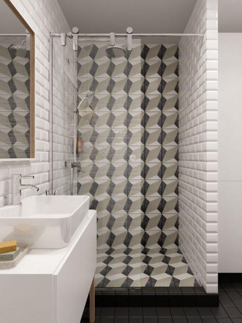 Badkamer ontwerp voor een klein appartement door INT2 Architecture