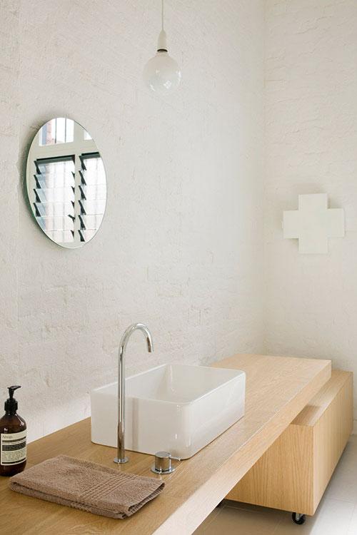 Badkamer ontwerp in voormalig pakhuis