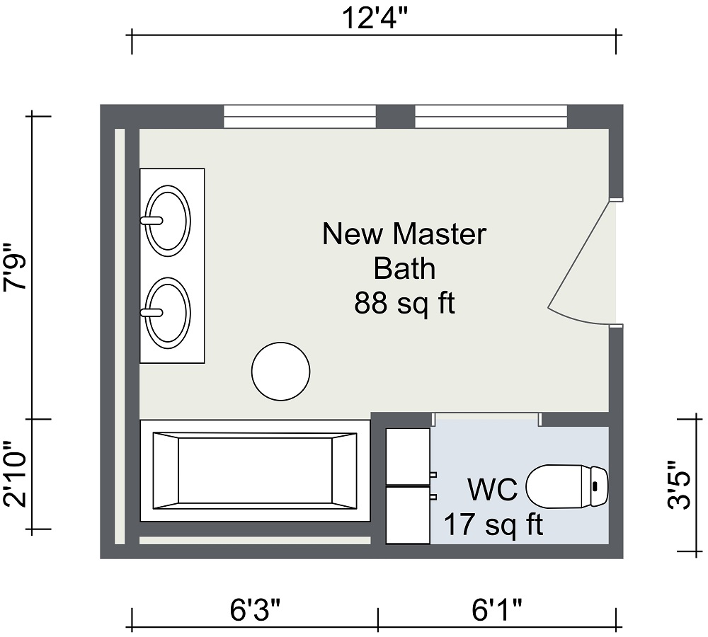 badkamer ontwerpen roomsketcher plattegrond
