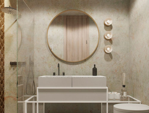 badkamer ronde spiegel
