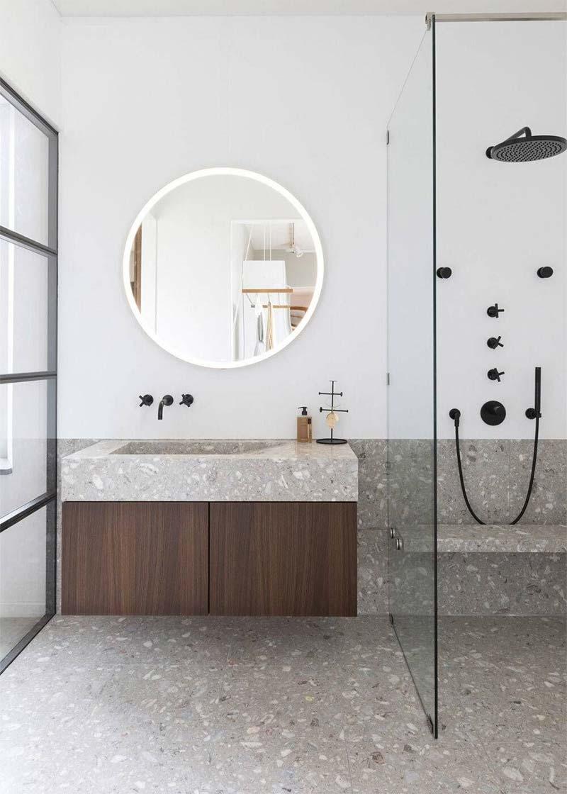 badkamer ronde spiegel met verlichting