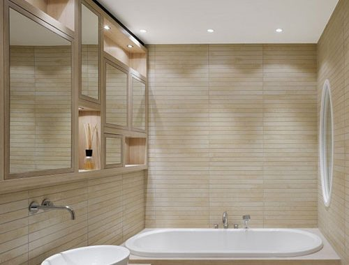 Badkamer sauna look