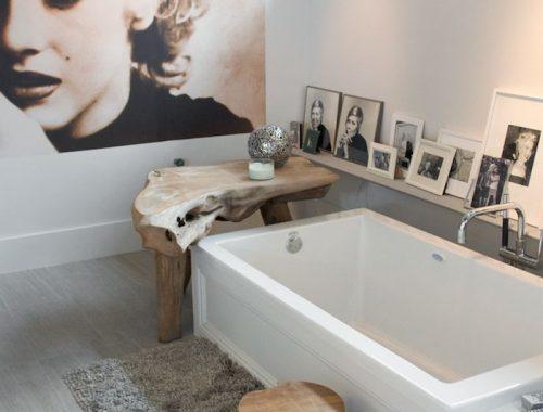 Badkamer met stijlvolle decoratie