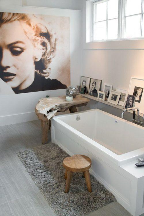 Badkamer met stijlvolle decoratie - Badkamers voorbeelden