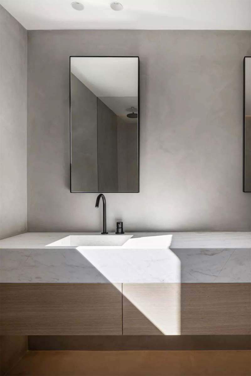 badkamer strakke dunne spiegel
