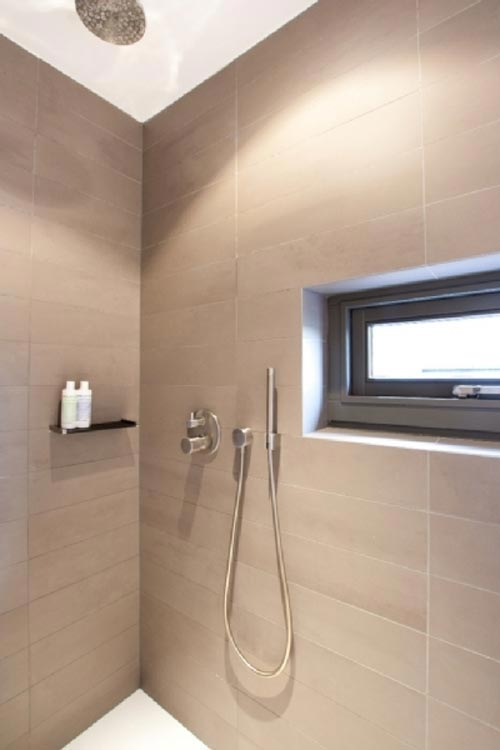 badkamer gietvloer in combinatie met vloerverwarming