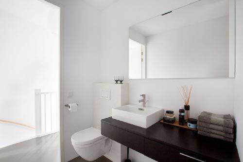 Badkamer met vloerverwarming in gietvloer