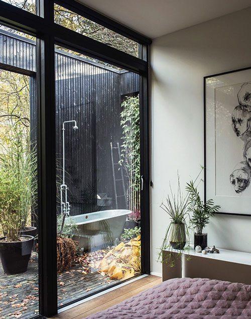 Badkamer Idee Natuur : Badkamers voorbeelden badkamer met vrijstaand ...