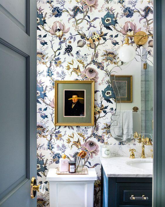 badkamer wanddecoratie behang