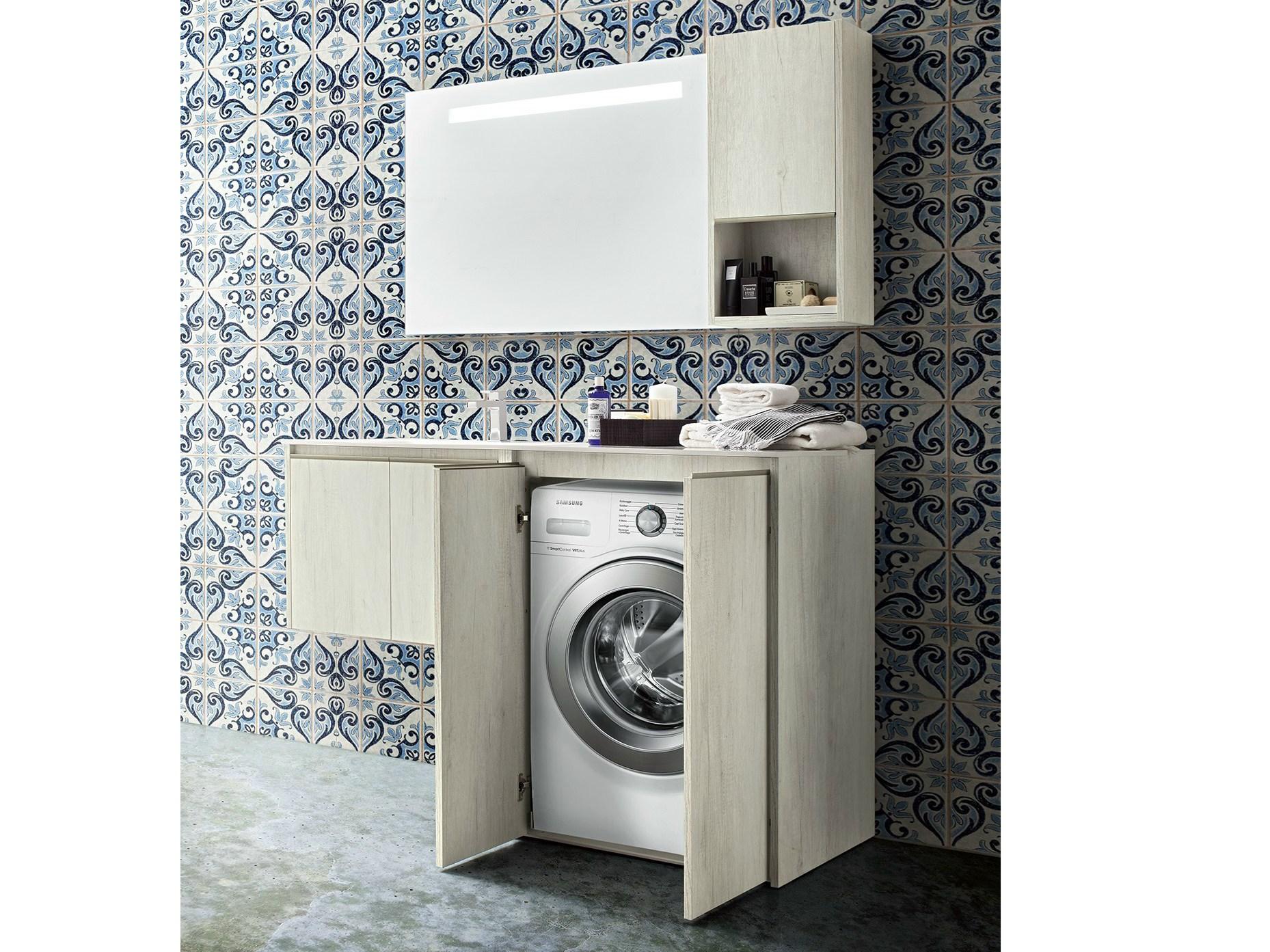 Badkamermeubelkast voor wasmachine badkamers voorbeelden
