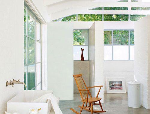 Badkamers van een industriële vintage woning