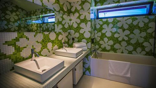 Badkamer Met Grijze Mozaiektegels : Badkamers voorbeelden » Badkamers ...