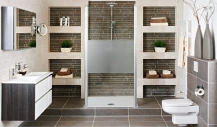 Brugman keuken met inloopdouche - Badkamers voorbeelden