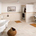 Badkamer van brugman met bad op pootjes