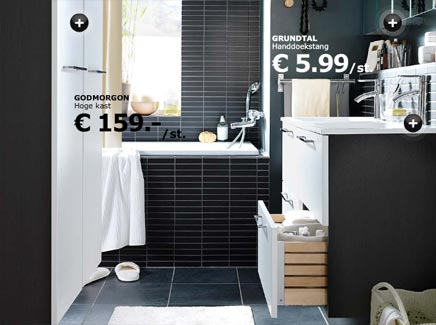 Ikea Badkamer Ikea : Badkamer van ikea met hoge kast badkamers voorbeelden