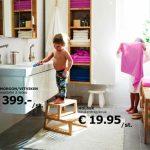 Badkamer van IKEA met houtelementen