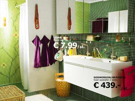 Ikea Badkamer Voorbeelden : Ikea keuken met groene mozaiëk tegeltjes badkamers voorbeelden