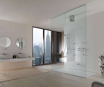 Badkamers voorbeelden » Badkamer uit New York met inloopdouche